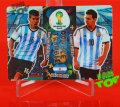 3D DOUBLE TROUBLE MESSI + AGUERO -  Adrenalyn XL - FIFA BRAZIL WORLD CUP 2014  Nowość