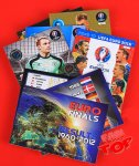30 kart 1 limited -  Panini - ROAD to EURO 2016  - zestaw fantop