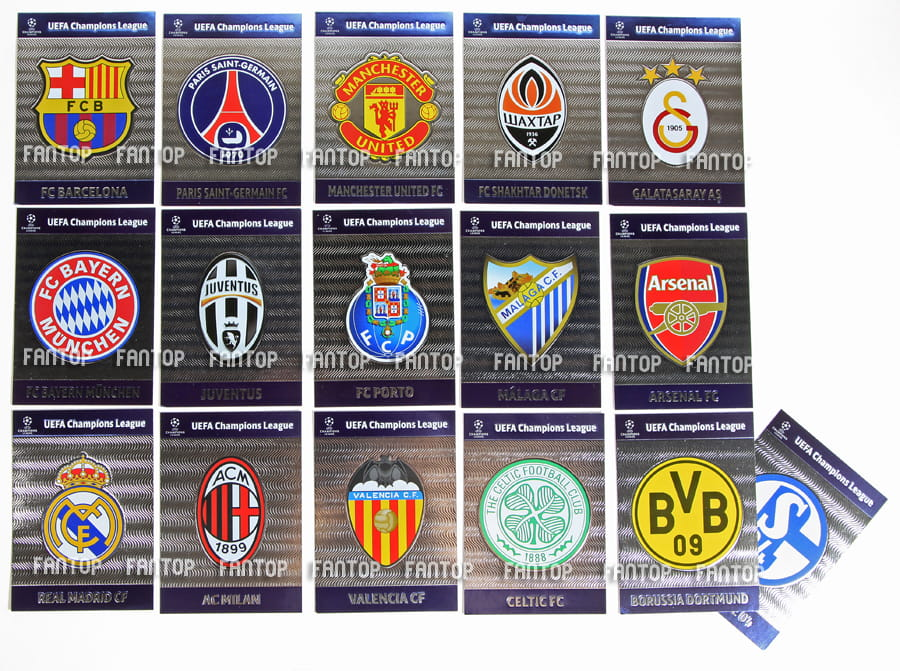 CLUB BADGES   Emblematy Dru  Yn UPDATE Champions League 2013