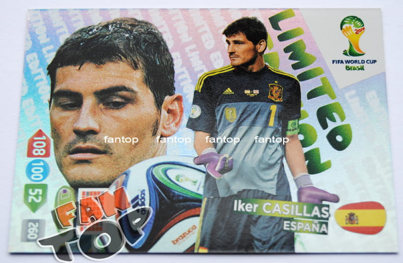 Iker CASILLAS Limited Edition FIFA BRAZIL WORLD CUP 2014 Brasil