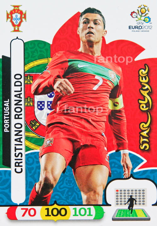 34 Karty Komplet Star Player Panini Adrenalyn XL Euro 2012   Ronaldo