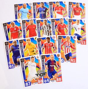 CH1-CH15 komplet 15 kart CLUB HEROES  - 2017 /2018 Champions League  TOPPS