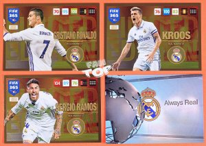 3 x REAL MADRID Limited Edition FIFA 365 2017 UPDATE