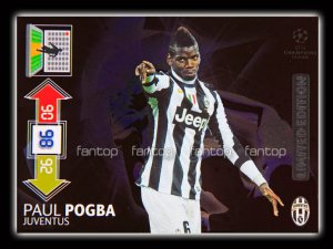 POGBA-  Limited edition CHAMPIONS LEAGUE 2012 - 2013<br>Adrenalyn XL - Panini