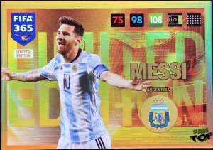 MESSI Argentina karta  LIMITED EDITION - FIFA 365 2017