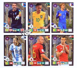 7 kart Limited Edition Buffon Neymar Iniesta Bale Messi  -  ROAD TO WORLD CUP 2018