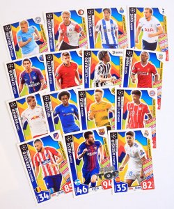 GC1-GC15 komplet 15 kart GAME CHANGERS  - 2017 /2018 Champions League  TOPPS