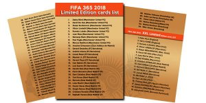 Lista kart Limited Edition FIFA 2018  - 2 karty