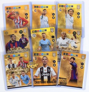 9 kart komplet - RARE - Invincible Legend Top Master - FIFA 2019  + Ramka +