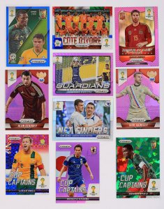 PRIZM -  Refractor cards BLUE RED PURPLE GREEN World Cup 2014