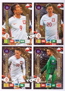 4 karty POLSKA Limited Edition  - ROAD TO WORLD CUP 2018