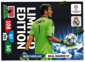 XXL  IKER CASILLAS - karta duża  -  Limited Edition - Champions League 2013/2014