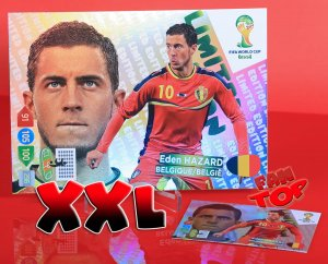 1 XXL - DUŻA karta - HAZARD  Limited Edition - FIFA BRAZIL WORLD CUP 2014   Brasil