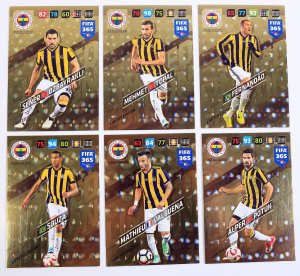 6 kart  LIMITED EDITION - FENERBAHCE - FIFA 365 2018