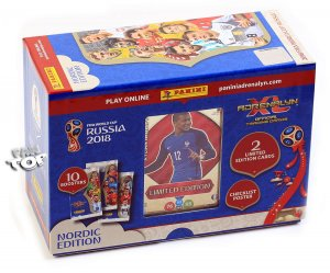 GIFT BOX folia 10 + 2 Limited MBAPPE , HAZARD - WORLD CUP Russia 2018  Nordic Edition