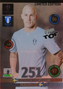 Markus ERIKSSON  LIMITED EDITION Champions League 2014 2015 Panini ADRENALYN XL  - RARE