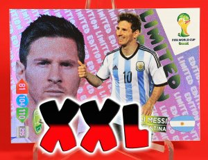 DUŻA karta XXL - MESSI  Limited Edition - FIFA BRAZIL WORLD CUP 2014   Brasil
