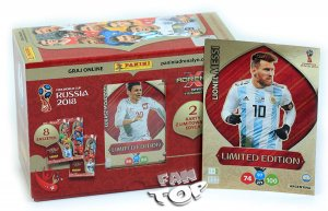 GIFT BOX 60 kart + 3 Limited XXL MESSI  - WORLD CUP Russia 2018