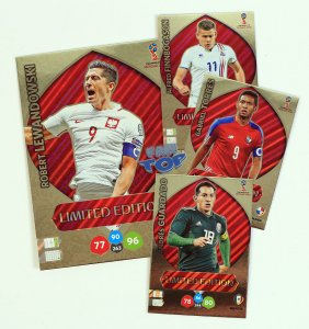 4 karty Limited Edition Lewandowski XXL + Torres Guardado Finnbogason - WORLD CUP Russia 2018