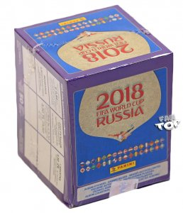 BOX 50 x SASZETKI naklejki stickers  - WORLD CUP Russia 2018