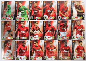 Manchester United drużyna - 12 kart - Champions League 2012-13 Panini Adrenalyn XL