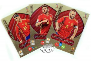 3 karty INIESTA + KOKE + ASENSIO  Limited Edition - WORLD CUP Russia 2018