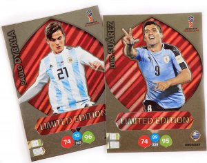 2 karty Limited  SUAREZ  + DYBALA - WORLD CUP Russia 2018  Nordic Edition