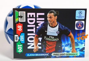 karta XXL - duża - IBRAHIMOVIC -  Limited Edition - Champions League 2013/2014