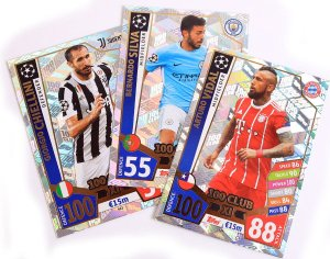 100 CLUB XI - wybór kart - 2017 /2018 Champions League  TOPPS