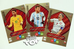 3 karty Duże XXL Limited LEWANDOWSKI  MESSI NEYMAR - WORLD CUP Russia 2018