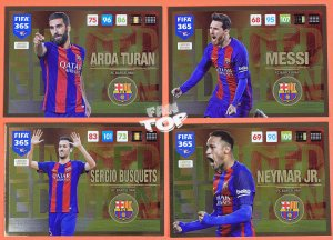 4 x BARCELONA  Limited Edition FIFA 365 2017 UPDATE