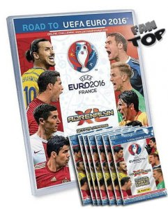 ALBUM + 10 saszetek z kartami ROAD TO EURO 2016