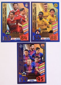3 karty PES - BVB Liverpool Barcelona - 2017 /2018 Champions League  TOPPS