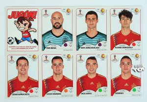7 naklejek  SPAIN update - WORLD CUP Russia 2018
