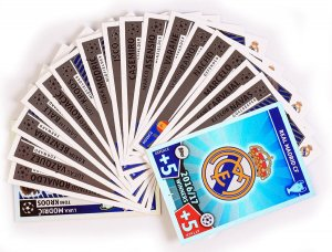 2016/17 WINNERS Real Madrid - wybór kart - 2017 /2018 Champions League  TOPPS