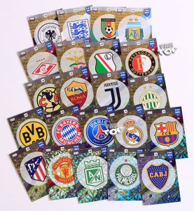 komplet set 22 karty CLUB BADGE Team Logo  FIFA 365 2018