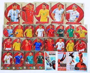 25  kart  Limited Edition + XXL Messi Kane Lewandowski  - WORLD CUP Russia 2018