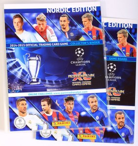 ALBUM + 30 kart CHAMPIONS LEAGUE 2014-2015 PANINI ADRENALYN XL  + Plansza do GRY