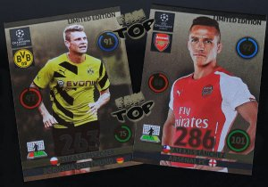 2 karty LIMITED EDITION Champions League 2014 2015  - PISZCZEK + SANCHEZ